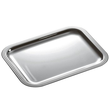 Albi Rectangular tray, 35 x 27cm, Christofle silver