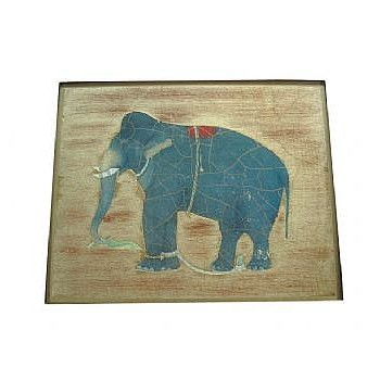 Elephant no.8 Tablemat rectanglular small, 20 x 25cm, gold leaf