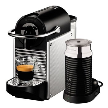 Pixie with Aeroccino - 11323 Coffee machine by Magimix, electric aluminimum