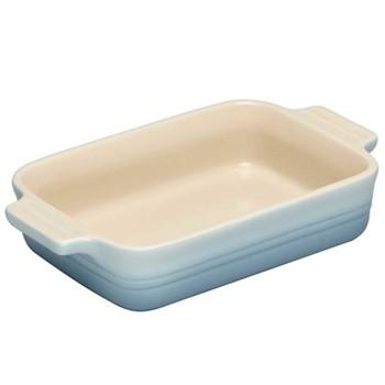 Stoneware Rectangular dish, 19cm - 1.08 litre, coastal blue