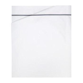Athena King size flat sheet, 270 x 295cm, platinum on white