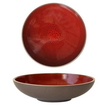 Tourron Pair of soup plates, 19cm, cerise