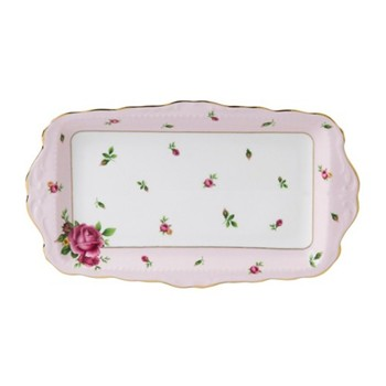 New Country Roses - Vintage Sandwich tray, pink