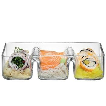 Serve Trio platter, 29cm, clear