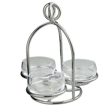 3 dish snack server small