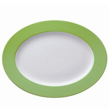 Sunny Day Oval platter, 33cm, apple green