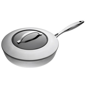 CTX Saute pan with glass lid, 26cm, ceramic titanium