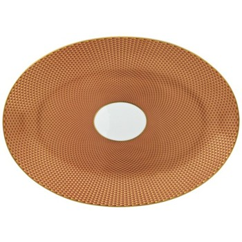 Tresor Oval dish medium, 36 x 26cm, orange