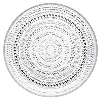 Kastehelmi Set of 6 plate, 17cm, clear
