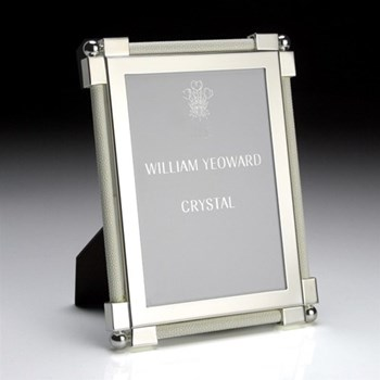 "Classic Photograph frame, 8 x 10"", silver plate and shagreen white"