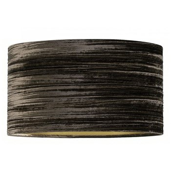 Flat Drum Lampshade, 14'', mink velvet silk with gold lining