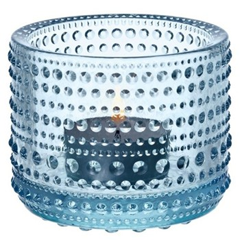 Kastehelmi Set of 6 votives, 6.4cm, light blue