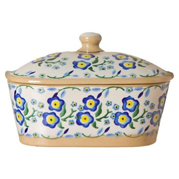 Forget Me Not Covered butter dish, L19 x W14 x H13cm