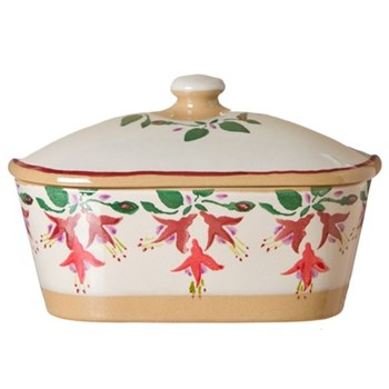 Fuchsia Covered butter dish, L19 x W14 x H13cm