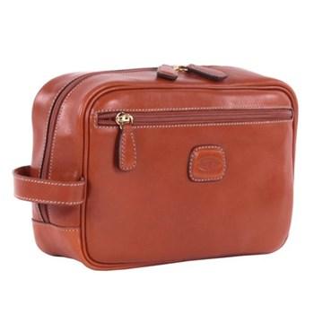 Life Pelle Wash bag, W25 x H17 x D9cm, tan
