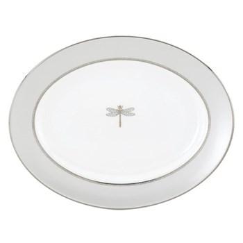 June Lane Platinum Oval platter, 33cm