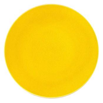 Tourron Pair of dinner plates, 26cm, citron