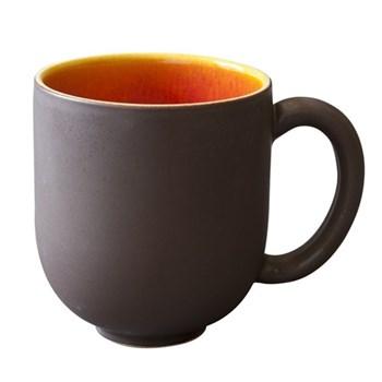 Tourron Pair of mugs, 36cl, orange