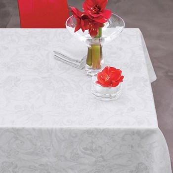 Tivoli Tablecloth, 175 x 250cm, white