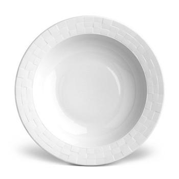 Byzanteum Serving bowl rimmed, 37cm, white