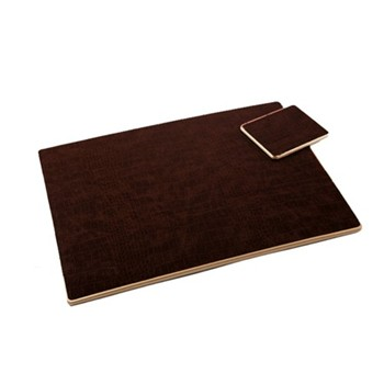 Croc Brown - Texture Range Set of 4 placemats, 30 x 22cm