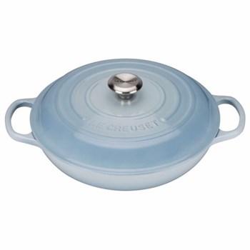 Signature Cast Iron Shallow casserole, 30 x 6cm - 3.2 litre, coastal blue