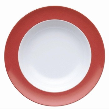 Sunny Day Deep plate, 23cm, new red