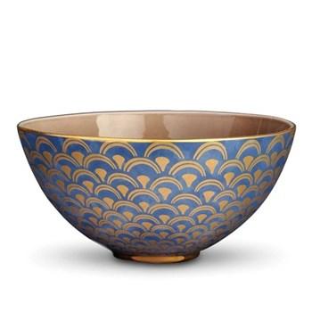 Fortuny Large bowl, 30 x 15cm, papiro blue