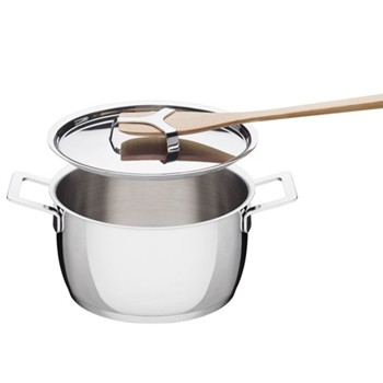 Pots & Pans by Jasper Morrison Casserole with two handles, 16cm, stainless steel