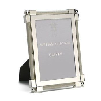"Classic Photograph frame, 5 x 7"", silver plate and shagreen white"