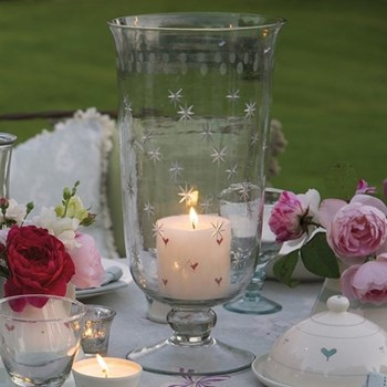 Hurricane vase, 36cm, cystal glass