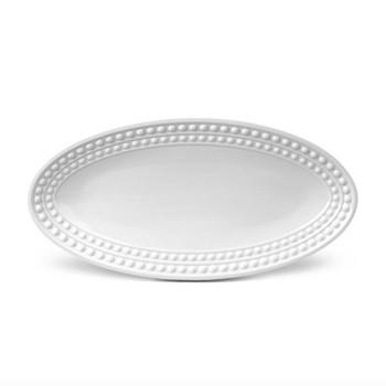 Perlee Oval platter, 36 x 18cm, white