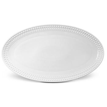 Perlee Oval platter, 53 x 30cm, white