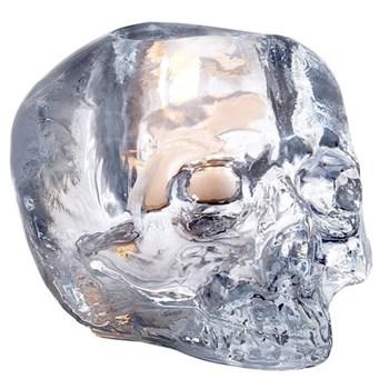 Skull Votive, 8.5cm, clear