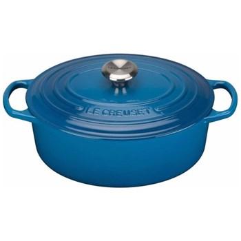 Signature Cast Iron Oval casserole, 27 x 21 x 10cm - 4.1 litre, Marseille