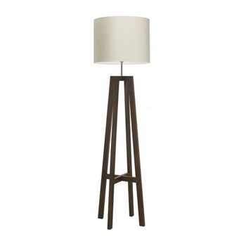 "Floor lamp with 18"" Oyster linen shade"