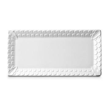 Aegean Rectangular platter, 39 x 19cm, white