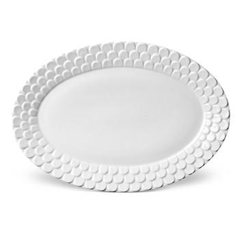 Aegean Oval platter, 37 x 30cm, white