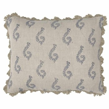 Shalini Linen cushion, 45 x 35cm, blue