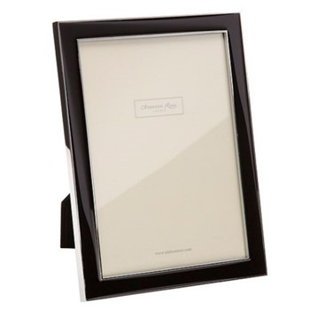 "Enamel Range Photograph frame, 8 x 10"" with 15mm border, black with silver plate"