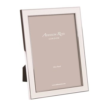 "Enamel Range Photograph frame, 8 x 10"" with 15mm border, white with silver plate"