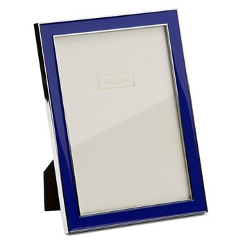 "Enamel Range Photograph frame, 4 x 6"" with 15mm border, royal blue with silver plate"