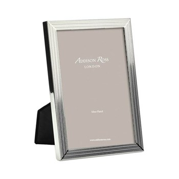 "Herring Bone Photograph frame, 5 x 7"", silver plate"