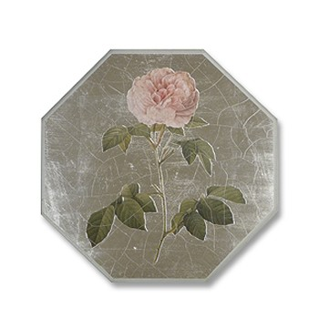 Roses Tablemat round, 27.5cm, silver leaf