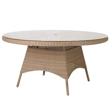 Round table with glass H73 x D150cm