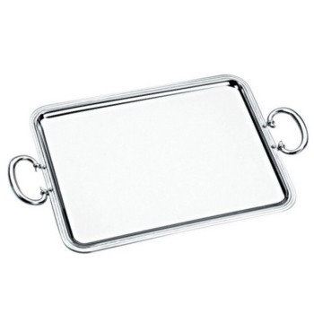 Albi Rectangular tray with handles, 53 x 42cm, Christofle silver