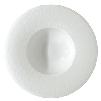 Mineral Blanc Rim soup plate, 22.5cm