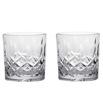 Pair of double old fashioned tumblers 9.2cm - 33cl