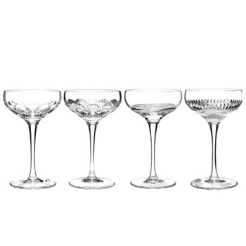 Set of 4 Champagne coupe 350