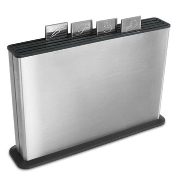 Index 100 Chopping board set, brushed stainless steel
